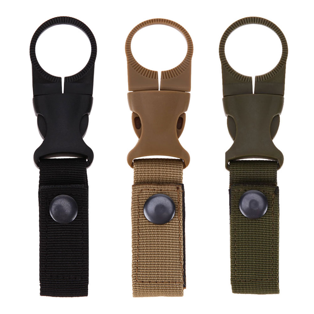 Multifunction Molle Webbing Backpack Hanger Hook Carabiner Water Bottle Camping Hike Buckle Hook Holder Travel Kit Tool Clip EDC outdoor 5pcs set molle strap backpack bag webbing connecting buckle clip military backpack accessory edc gear travel kits