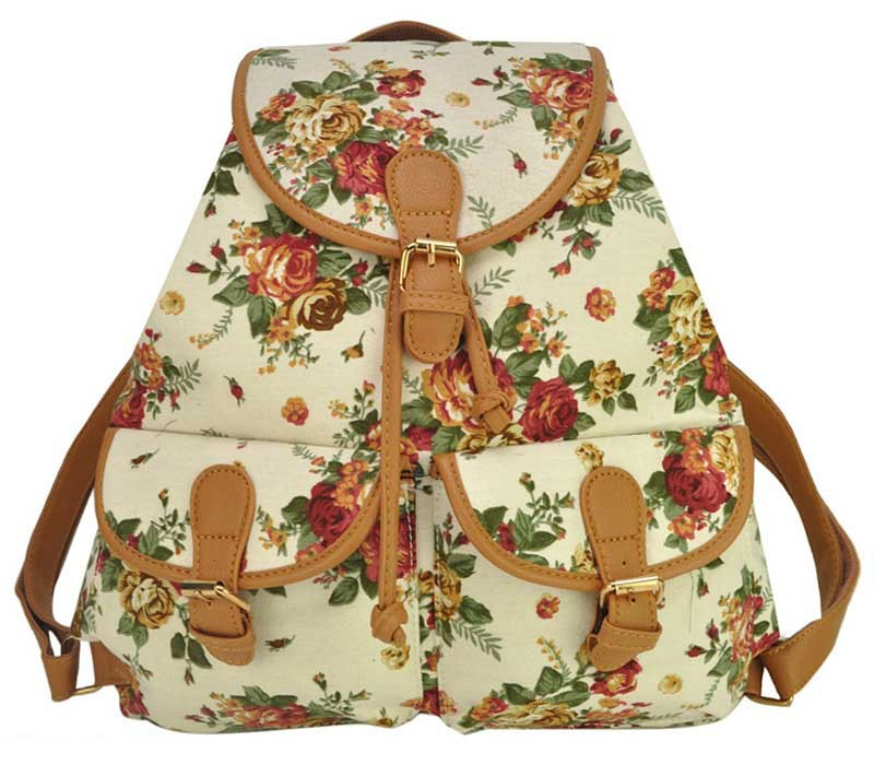 Aliexpress.com : Buy women canvas backpack cute printing cute ...