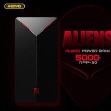 REMAX Alien Design Powerbank 5000 mAh Ultra Slim 5000mah Power Bank External Battery Portable Charging For Xiaomi Mobile Phone