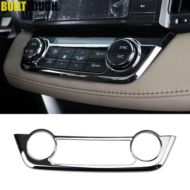 Хромированная панель для центральной консоли Toyota RAV4 2013, 2014, 2015, 2016, 2017, 2018, панель переключателей переменного тока, панель управления кондици...