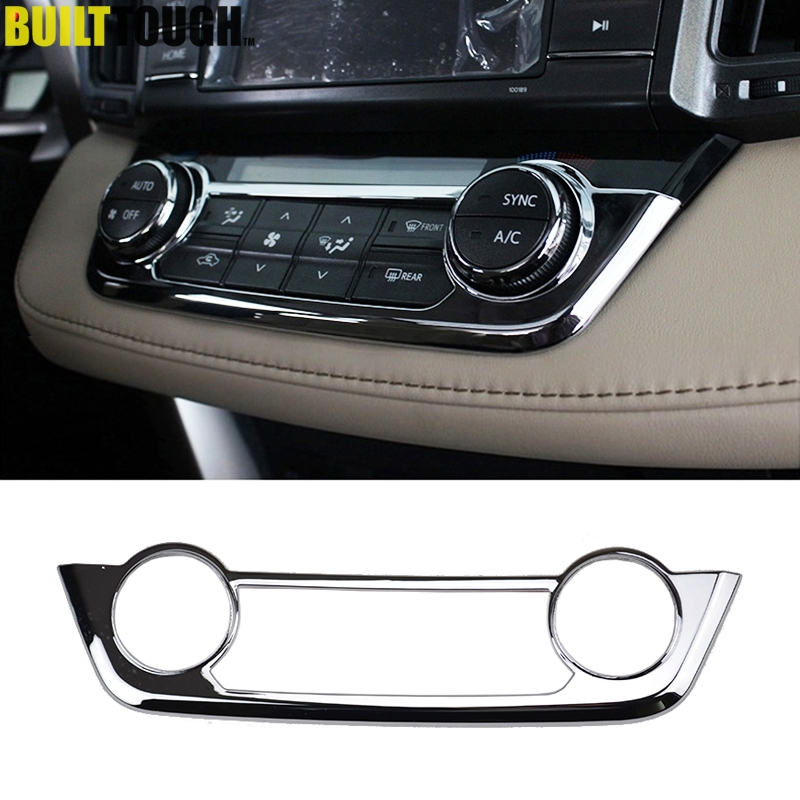 For Toyota RAV4 2013 2014 2015 2016 2017 2018 Chrome Center Console AC Switch Button Panel Air Condition Vent Control Cover Trim