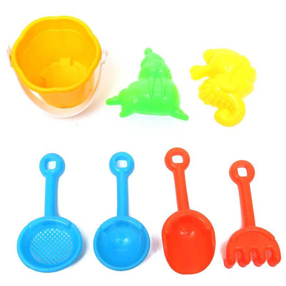 9 unids/set juguetes para arena de playa para niños playa de arena pala pozo jugar agua Set de juguetes de plástico gafas de sol 2018 nueva llegada