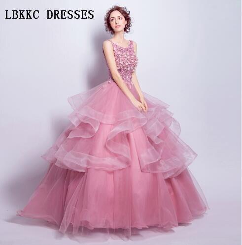 Abiti Eleganti Cerimonia On Line.Sleeveless Nude Pink Evening Dresses A Line Robe Longue Soiree