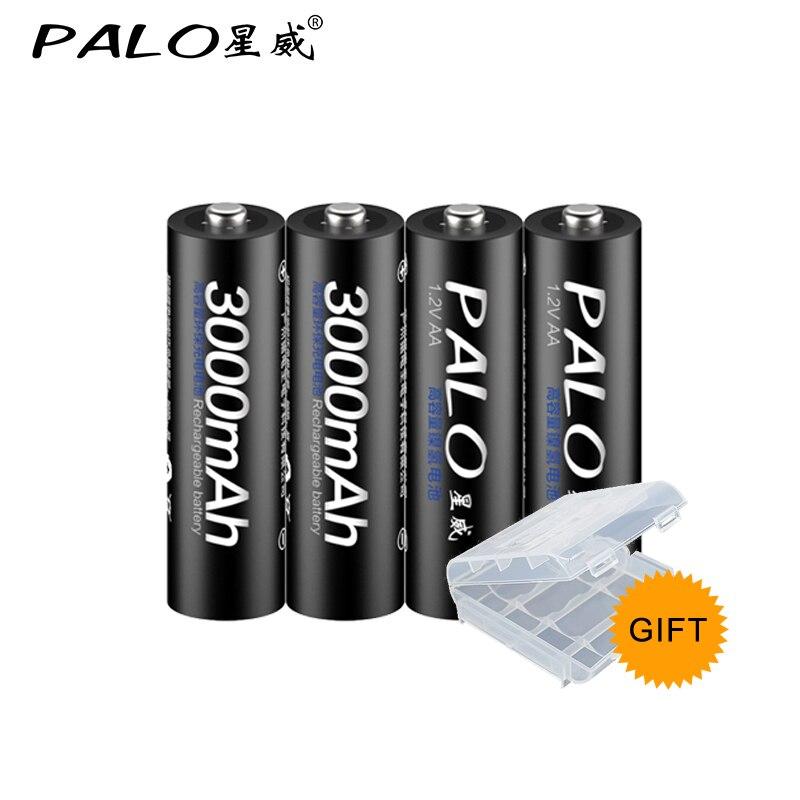 8 stücke 100% PALO original-akku 3000 mAh NiMH AA wiederaufladbare batterien, hochwertiges spielzeug, kameras, taschenlampen und batterie