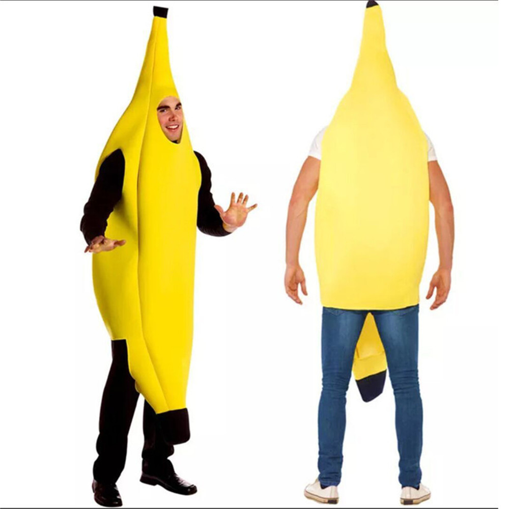Cosplay Funny Sexy Banana Costume Men Adult Game Clothing props Party Decorations Novelty Halloween Christmas Carnival