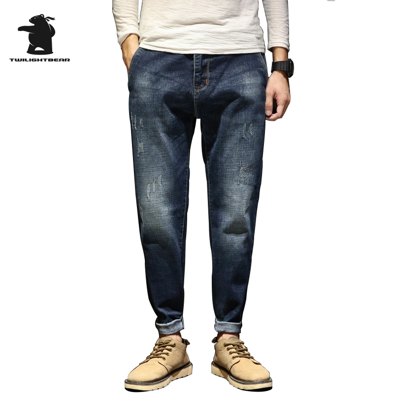 Brand New Mens Ripped Jeans Designer Fashion Street Retro High Quality Plus Size Casual  ...