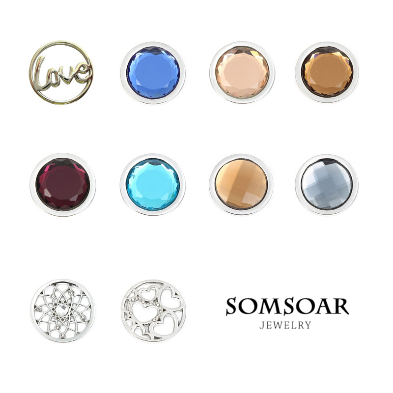Somsoar jewelry hot selling disc coin mixed 33mm large for my coin somsoar jewelry hot selling disc coin mixed 33mm large for my coin holder pendant necklace diy jewelry aloadofball Image collections