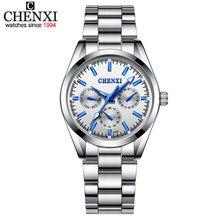 e9ae1ce6801 CHENXI Relógio De Prata das Mulheres Relógios Lady Pulseira Moda Quartz  relógios de Pulso Relógio Feminino
