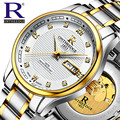 2017 Original RON New Men Mechanical Watches Men Luxury Brand Full Steel Waterproof Business Automatic Wristwatches For Men 015