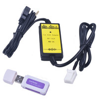 Car Audio Interface Cables Adapters MP3 USB 2.0 3.5mm Aux In Adapter Connect Digital CD Changer for Corolla