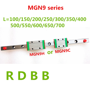 NEW 9mm Linear Guide MGN9 100 150 200 250 300 350 400 450 500 550 600 700 mm linear rail + MGN9H or MGN9C block 3d printer CNC(China)