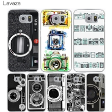 Lavaza Vintage Camera Hard Transparent Cover Case for Samsung Galaxy S7 Edge S6 S8 Edge Plus S5 S4 S3 & Mini S2