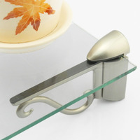 Adjustable Fish Mouth Clamp Glass Shelf F Type Board Glass Clamp Hardware Plate Clip Parts For