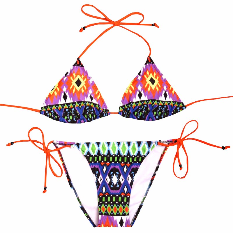 NAKIAEOI Sexy Bikinis Women Swimsuit 2018 Beach Wear Bathing Suit Push Up Swimwear Female Printed Brazilian Bikini Set Swim Wear 4
