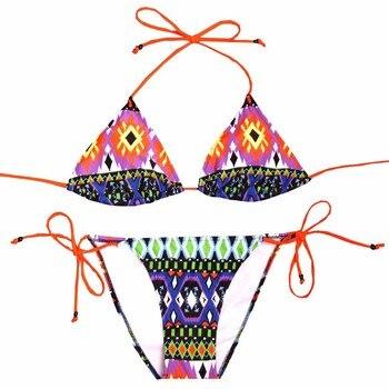 NAKIAEOI Sexy Bikinis Women Swimsuit 2018 Beach Wear Bathing Suit Push Up Swimwear Female Printed Brazilian Bikini Set Swim Wear 4