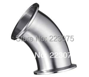 NEW  Water Cooler New Arrival Stainless Steel Ss304 Quick Install Connector Od 38mm Sanitary Pipe Fitting 45 Degree 2 Pcs/lot