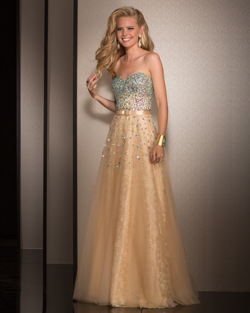Online Get Cheap Gold Colored Prom Dresses -Aliexpress.com ...