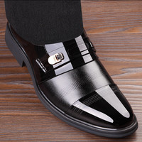 In Stock High Quality Pu Leather Shoes Men Lace Up Wedding Shoe Men Dress Shoes British