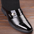 En stock! Alta Calidad de La Pu Zapatos de Cuero de Los Hombres, Con Cordones de Zapato de La Boda, Los Hombres Visten Zapatos, Estilo británico de Moda de Los Hombres de Oxford Para Hombre Padre