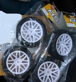 4 Uds HSP RACING RC accesorios de coche piezas de repuesto NO. 30712 rueda completa para 1/10 4WD poder NITRO RC deporte RALLY coche de carreras 94177