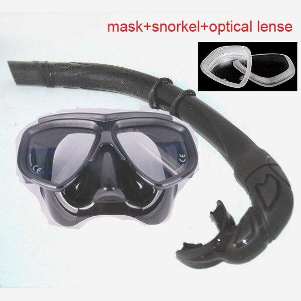 freedive máscara e tubo de respiração de silicone flexable conjunto