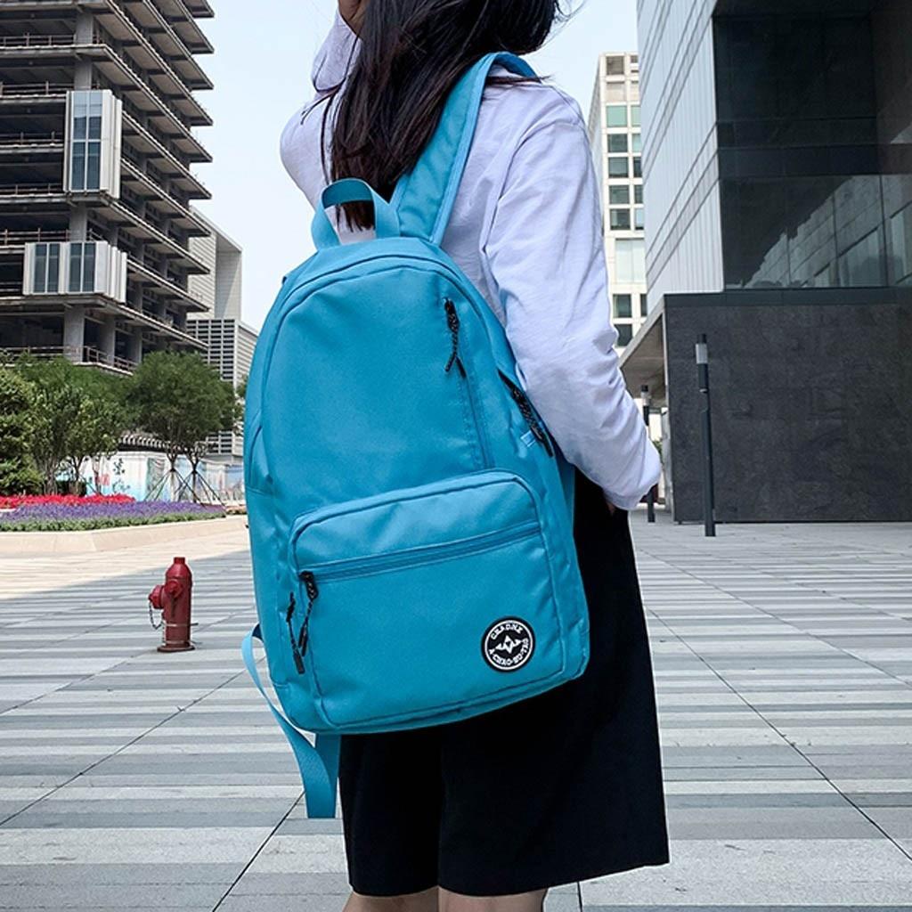 MUQGEW School-Bags Couple Teenage Girls Student Fashionable Unisex Zipper for Folding