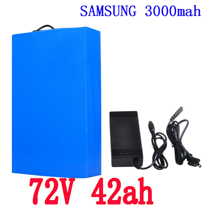 Free Shipping Big Power 72V 42Ah Lithium Battery Pack for 5000W 7000W Motor used in 100A BMS High Power Cell 3.7V 3000mAh Li Ion free customs taxes super power 1000w 48v li ion battery pack with 30a bms 48v 15ah lithium battery pack for panasonic cell