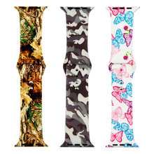 Soft silicone strap for apple watch band 44mm&bracelet apple watch 40mm Colorful wristband for iwatch band 42/38mm serie 4 3 2 1 colorful flower skull sports silicone band for apple watch iwatch rubber watch strap for apple watch series 2 bracelet 42 38mm