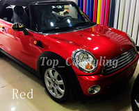 Cherry red Glossy Metallic Car Wrap Styling air free candy with Air Free full car Covering FOIL Film PROTWRAPS 1.52x20m/Roll