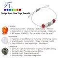 & N Новый Исцеление Браслеты Природный Лабрадорит Лунный Камень Красный Агат Yoga Браслет 8 мм Чакра Power Energy Браслет для Женщин