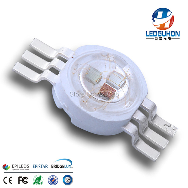 Epileds 45mil chip RGB color high power 9W led diode