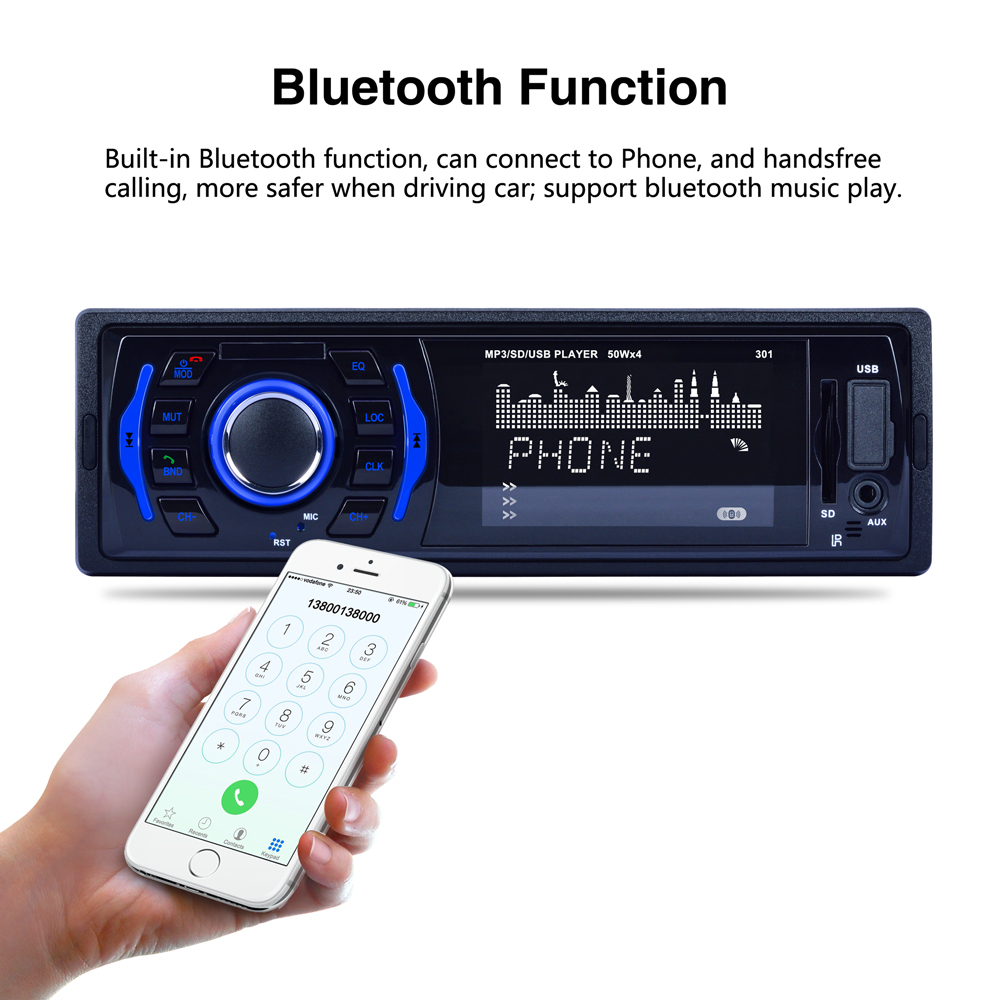 United Input/SD/USB/MP3 7 Display