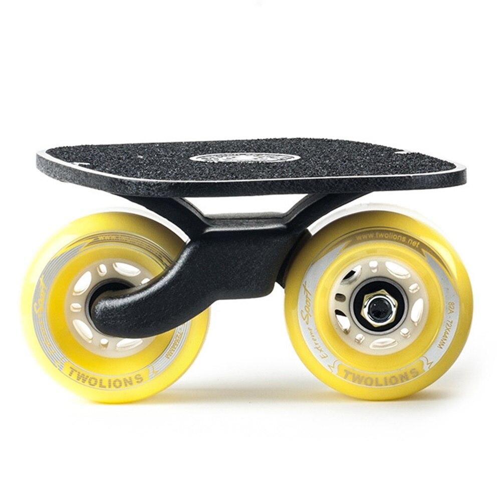 SPORTSHUB 1 Paire planche de skate Drift board skate pour Rouleau Route Dérive Plaque Anti-dérapage Planche À Roulettes Sport Métal Pédale roues pu O2K0013 - 3