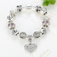 ELESHE Luxury Brand Women Bracelet 925 Unique Silver Crystal Charm Bracelet for Women DIY Beads Bracelets & Bangles Jewelry Gift 5