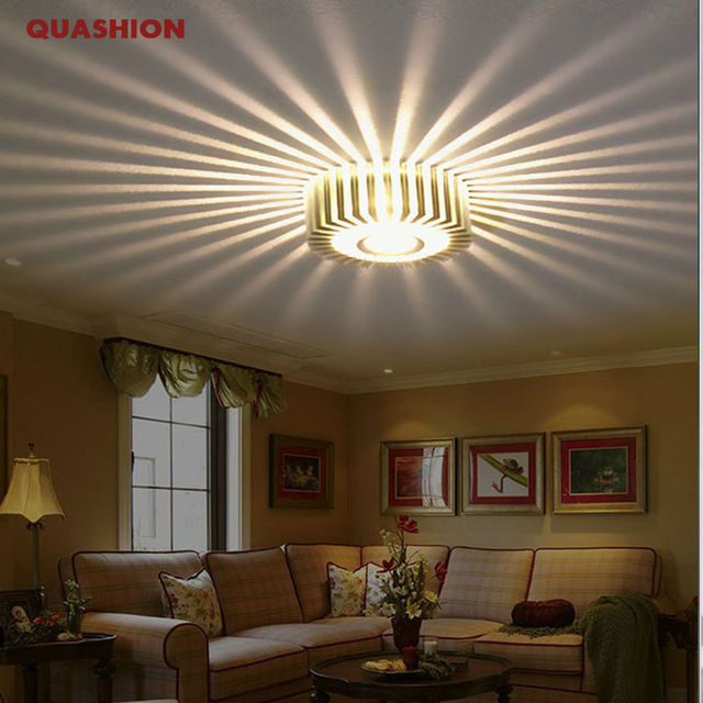 Indoor Ceiling Lights: Creative Led Ceiling Light Fixtures Modern Indoor Colorful