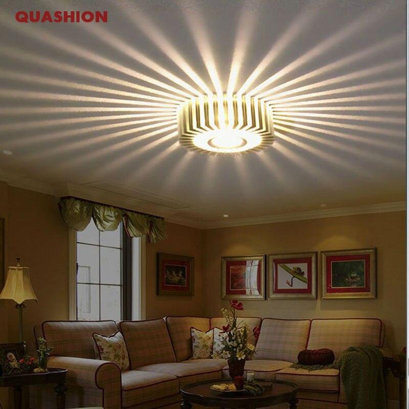 Luz de techo Led creativa accesorios modernos de interior colorida Lámpara decorativa pared pasillo porche 1 W aluminio Sconce