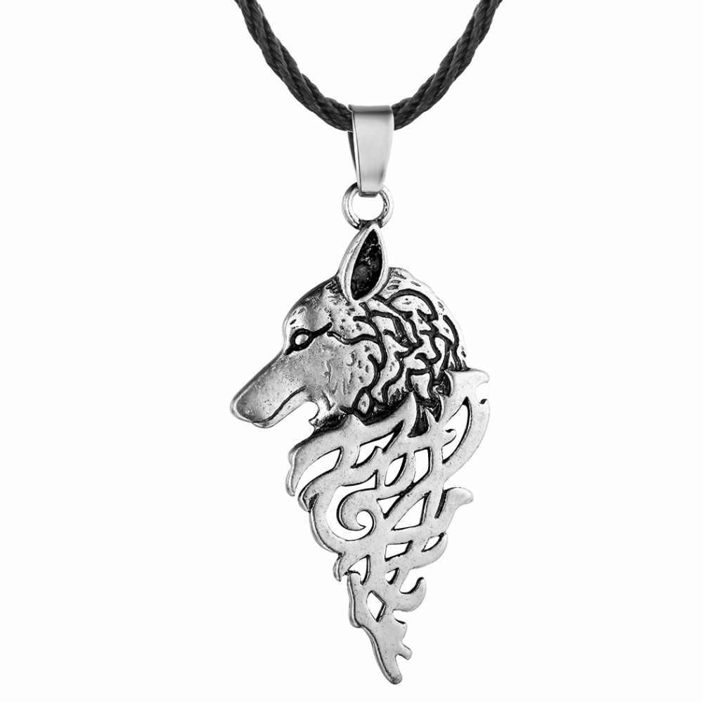 QIMING Bắc Âu Viking Người Đàn Ông Vòng Cổ Phụ Nữ Slavic Biểu Tượng Bùa Hộ Mệnh Kolovrat Antique Silver Cross Búa Mặt Dây Chuyền Nam Vòng Cổ Trang Sức