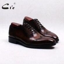 CIE с квадратным носком законцовками патина коричневый ручной работы 100% из натуральной телячьей кожи дышащие мужские оксфорды обувь OX553 клей Craft