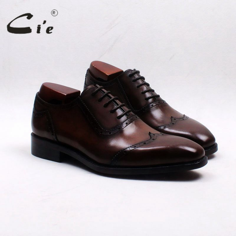 cie square toe wingtips patina brown handmade 100%genuine calf leather outsole breathable mens oxfords shoe OX553 adhesive craft cie square toe bespoke custom handmade genuine calf leather outsole breathable men s oxfords shoe brown ox183 mackayc blake raft