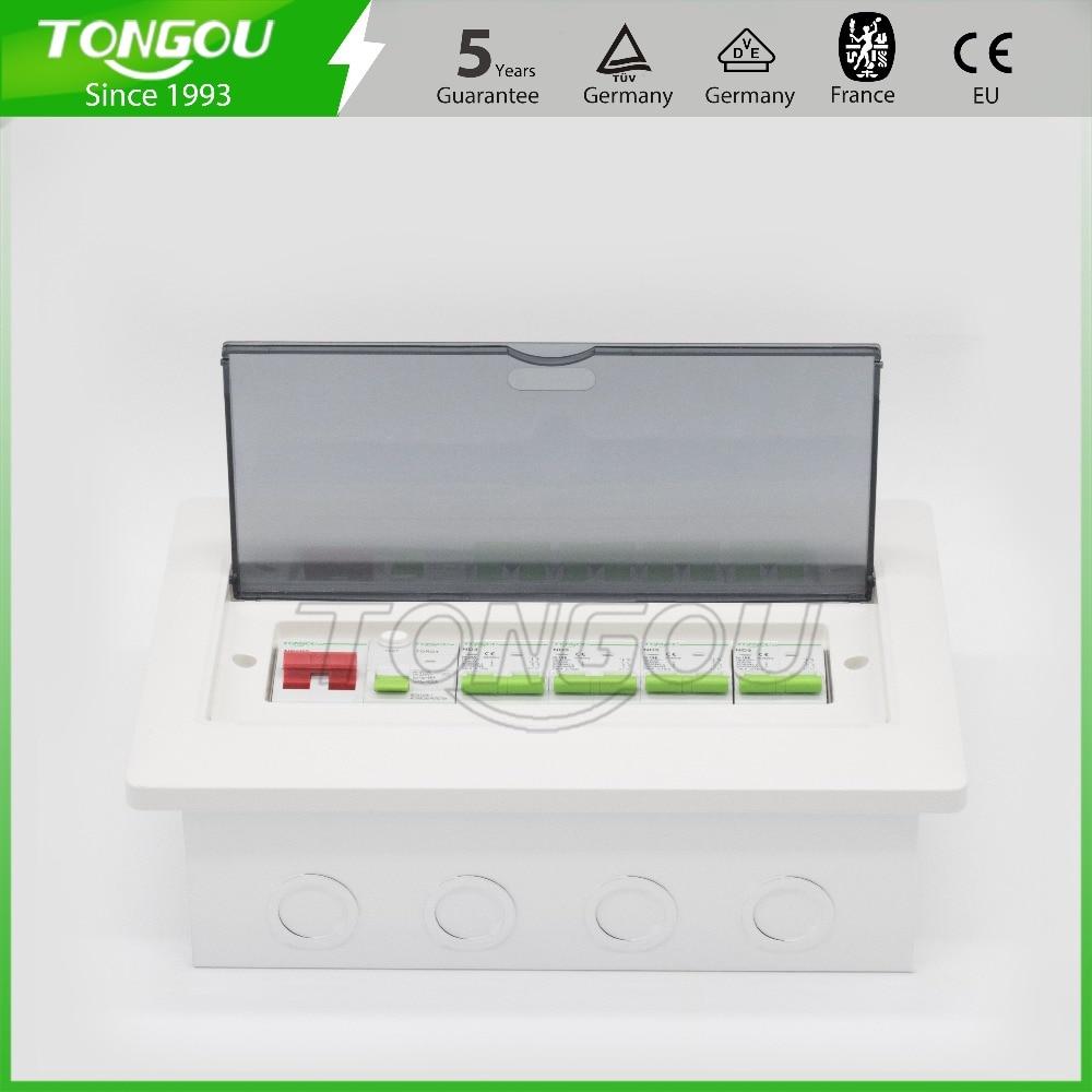 12 manières boîte de distribution en métal unité grand public 63A 2 P RCD protection de disjoncteur affleurant la boîte de commutateur 5 ans de garantie