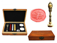 Vintage Candlestick Custom Luxury Wax Seal Sealing Stamp Brass Peacock Metal Handle Sticks Melting Spoon Wood