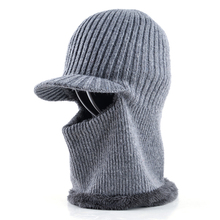 Thickening knitted wool cap Men's winter hat Keep warm beanies men bonnet balaclava face Mask hats for men beanie Dual-use gorro