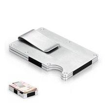 EDC Metal Money Clip Ultra-thin Outdoor Portable Multi-function High Capacity Card Pocket Unisexs Folder Wallet Tool Black