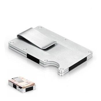 цена EDC Metal Money Clip Ultra-thin Outdoor Portable Multi-function High Capacity Card Clip Pocket Unisex's Folder Wallet Tool Black онлайн в 2017 году