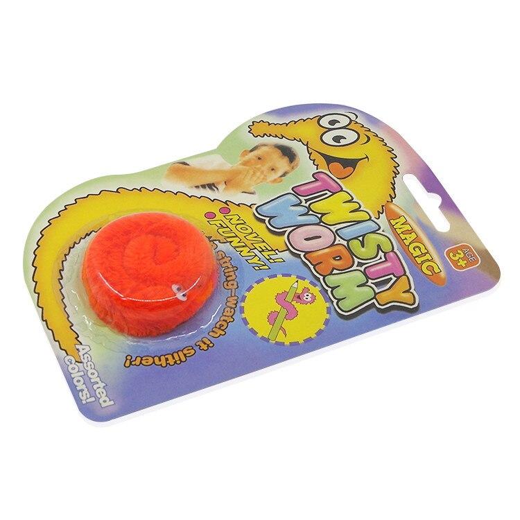 6 pcs Magic Twisty Worm Slideyz Squirmles Fuzzy Soft Toys