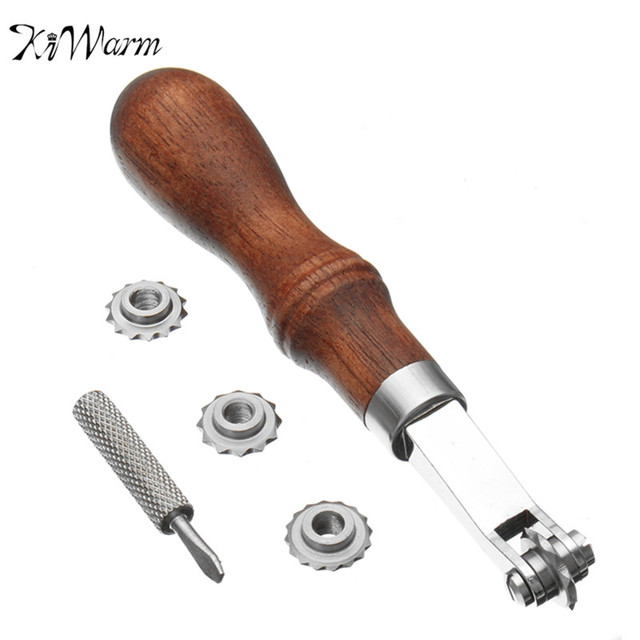 KiWarm Leather Sewing Tools Lock Awl Thread Over Stitching Wheel Inspiration Sewing Machine Repair Tools