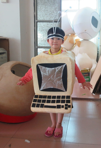 Laptop Computer mascot costume Cartoon Character Mascotte Mascota Outfit Suit