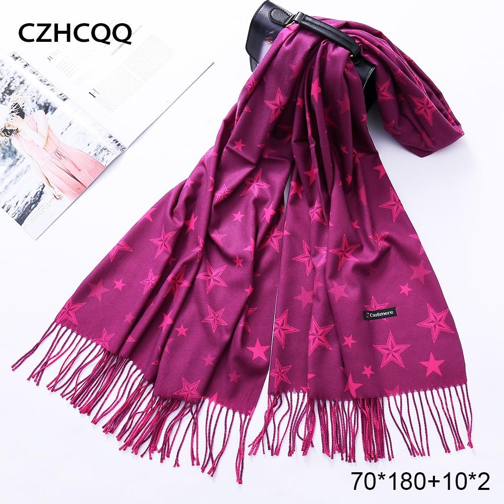 Winter Scarf Cashmere Women Wool Foulard Bandana Kerchief Trumpet Sjaals Voor Dames Plaid Poncho Women Scarf For Ladies