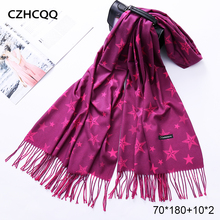 Winter Scarf Cashmere Women Wool Foulard Bandana Kerchief Trumpet Sjaals Voor Dames Plaid Poncho For Ladies