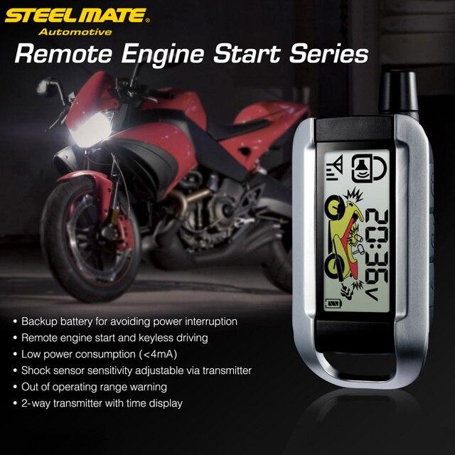 Steelmate 986XO сигнализации 2 Way Мотоцикл сигнализации Системы удаленного Управление запуска двигателя Anti-theft охранной сигнализации Системы ЖК-дисплей передатчик
